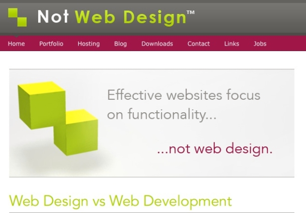 Not Web Design