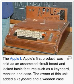 Apple I © Wikipedia