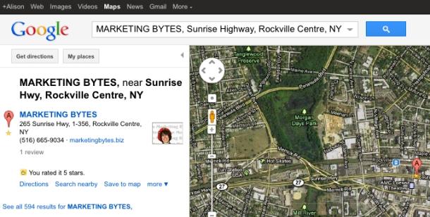 Google Places-Marketing Bytes near Rockville Centre, NY