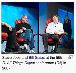Steve and Bill © Wikipedia
