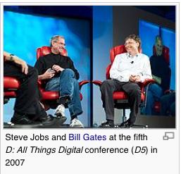 Steve and Bill © Wikipedia