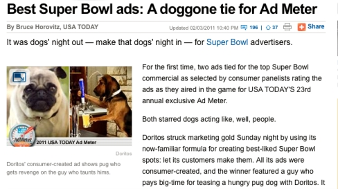 SuperBowl Ad © USA Today