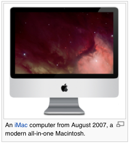 The iMac 2007 © Wikipedia