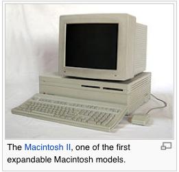 The Macintosh II © Wikipedia