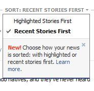 Facebook Sorting