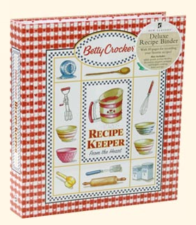 A picture of the Betty Crocker Recipe Card Binder