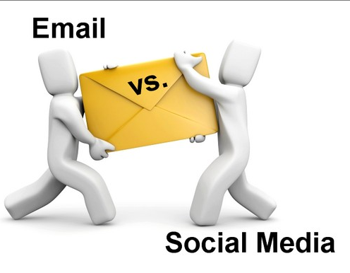 the struggle between Email vs. Social Media for Donimance