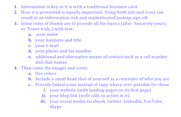A list of how to create a memorable, social media e-mail signature