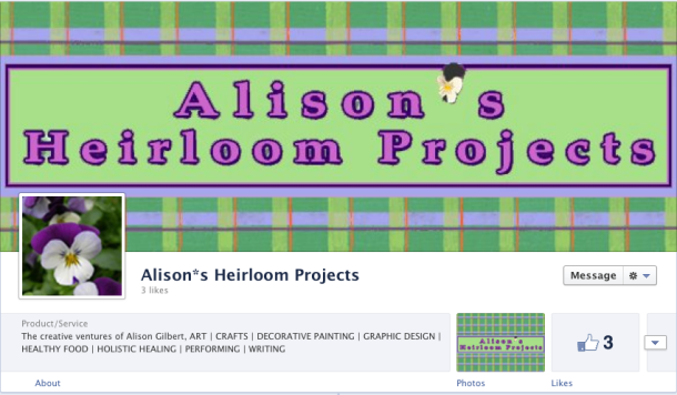 The cover for Alison*s Heirloom Projects