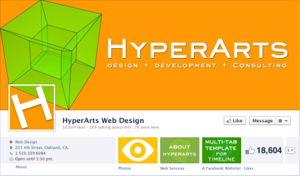 HyperArts fantastic page cover. I love how the icon fits right into the design.