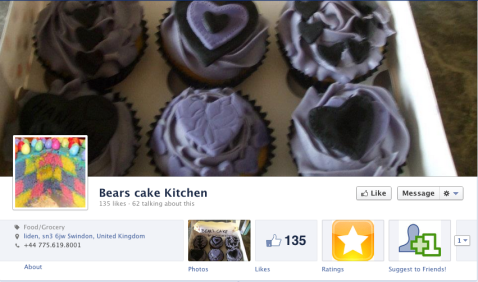 Bear's Cake Kitchen facebook page cover