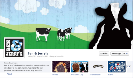 The Ben & Jerry Ice Cream page cover