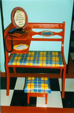 telephone table painted by Alison Gilbert