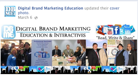 A collage of trade shows and other activities involving Digital Brand Marketing