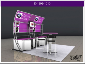a trade show booth created by the Godfrey Group