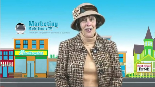 Alison Gilbert introduces Marketing Made Simple in front of Main Street.