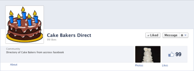 The Cake Bakers Direct timelines for business page cover