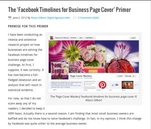 An image of The Facebook Timelines for Business Page Cover Primer
