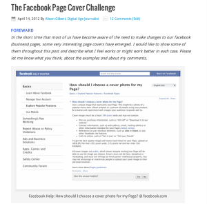 The Facebook Timelines for Business Page Cover Challenge