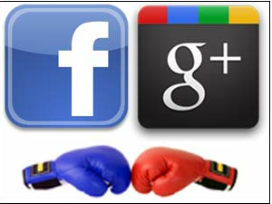 facebook and google +