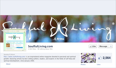 facebook page for soulfulLivingcom